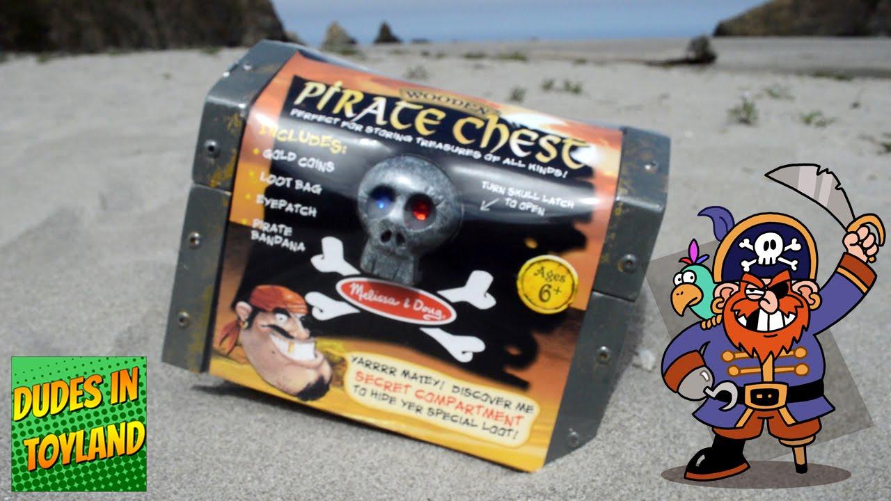Treasure Toys Cartoon : Pirate toys melissa doug wooden pirates chest