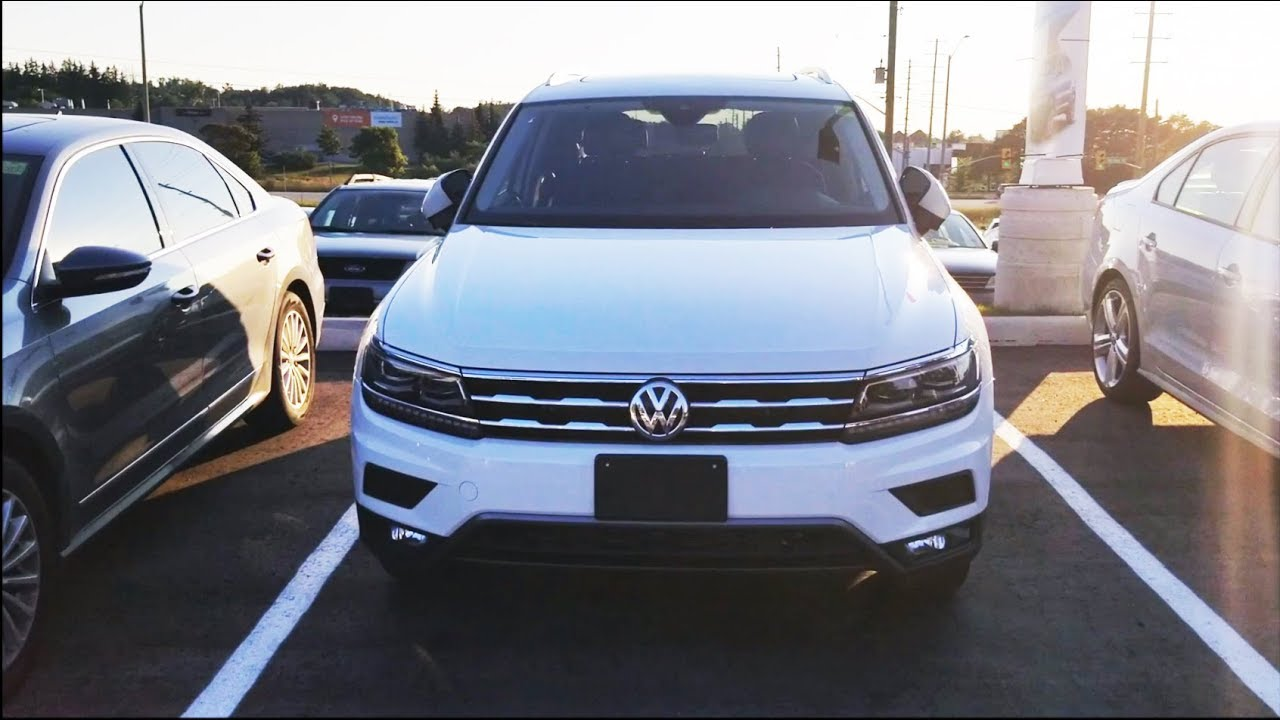 2018 Volkswagen Tiguan Canada Highline Exterior Interior Engine Room