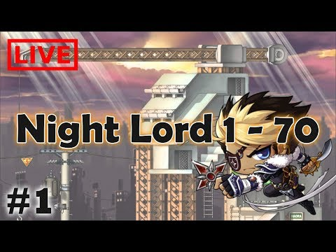 [LIVE] Night Lord คืนนี้ขอ 1-70++ | Maplestory TH