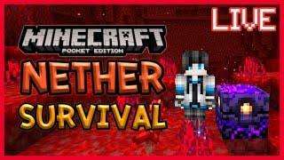 Live Minecraft PE Nether Survival EP.1 เอาชีวิตรอดใน Nether