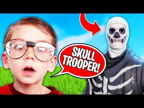 How Kids REACT to Skull Trooper (Fortnite Battle Royale)