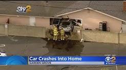 Car Crashes Through Concrete Block Wall, Into Garden Grove Home