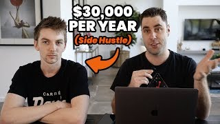How He Makes $30,000 Per Year Online With This Side Hustle From Home!