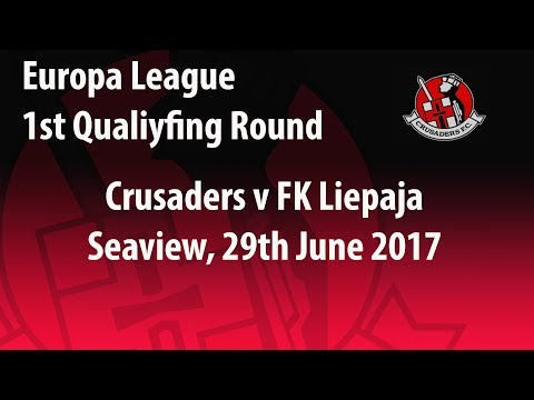 Crusaders 3-1 FK Liepaja. Europa League 29/6/17