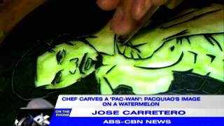 'Pac-Wan': Chef carves Pacquiao's image on watermelon