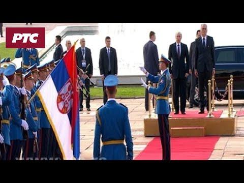 Svečani doček Vladimira Putina ispred Palate Srbije