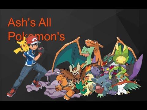 Ash's All Pokemon (Kanto - Kalos)