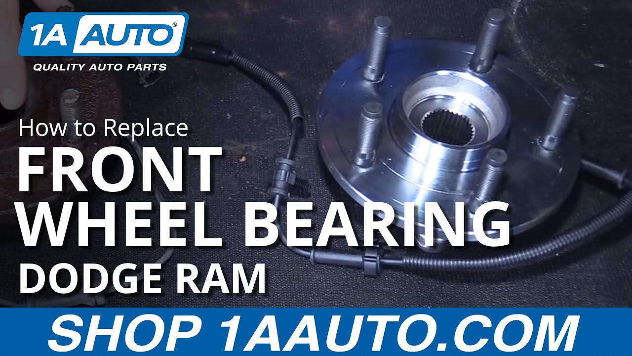 How To Install Front Wheel Bearing Hub Assembly And Speed Sensor 1992 Dodge Dakota Radio Wiring Diagram 2006 08 Ram Buy At 1aautocom