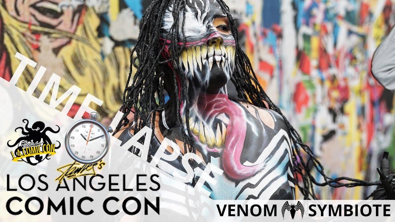 Vemon Symbiote (Body Paint Time Lapse) | Stan Lee's Los Angeles Comic Con 2017 | EI Makeup School