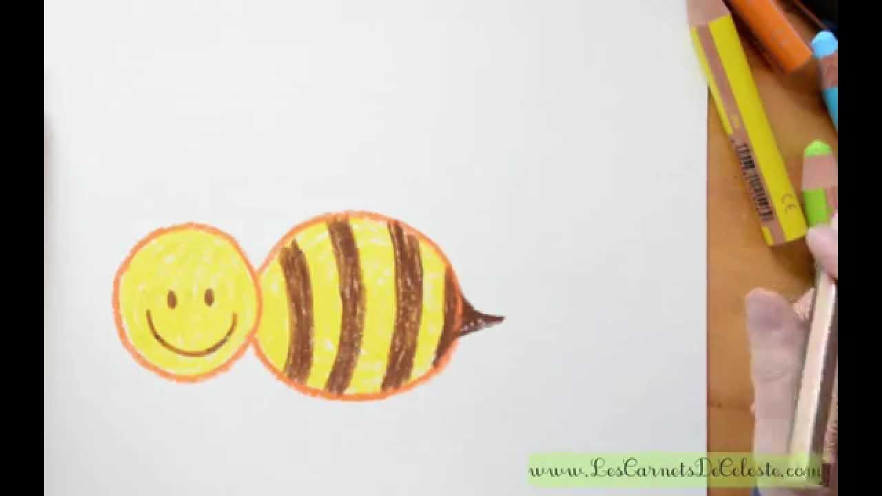 comment dessiner une abeille youtube. Black Bedroom Furniture Sets. Home Design Ideas