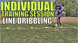 TRAIN LIKE A PRO | Line Dribbling To Improve Skill Fast | Individual Training Session