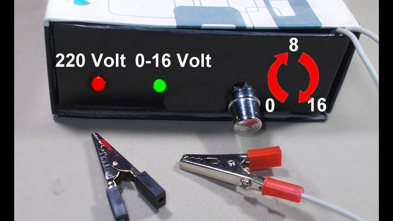 Adjustable 0 16 Volt Voltage Regulator 16v Variable Power Supply Circuit Batterycharger Powersupplycircuit Diagram