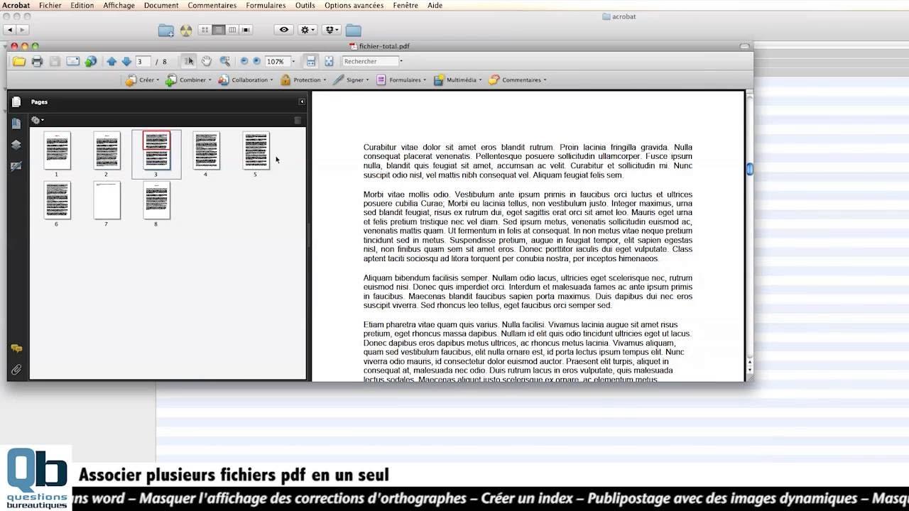 regrouper plusieurs pdf dans un seul