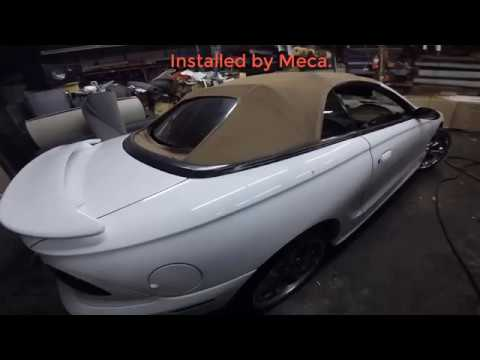 How To Remove And Install A New Rear Window Convertible Top On 1998 Mustang