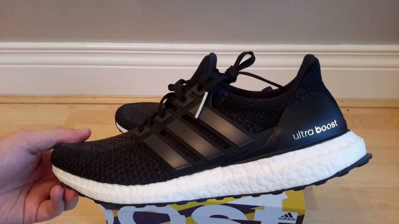 Adidas Ultraboost Triple Black BB3909 unboxing review - YouTube 2b79ee99a554