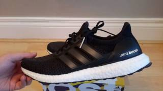 adidas ultraboost triple black bb3909 unboxing review