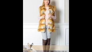 Меховой жилет из лисы(Интернет-магазин женской меховой одежды