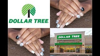 DOLLAR TREE | SASSY + CHIC Artificial Nails | TWO PACKS MIXED | Custom Design NEUTRAL COLOR Manicure