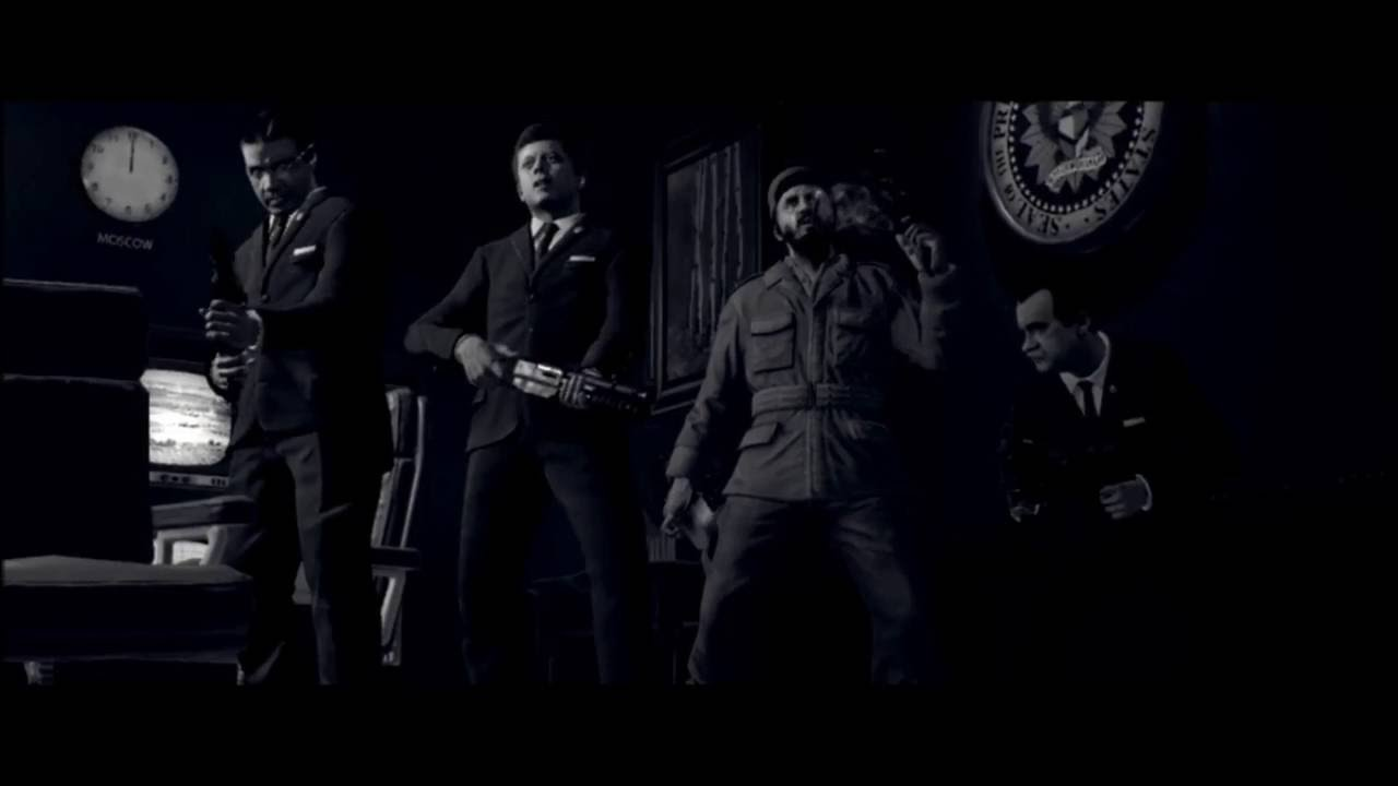 Five Intro Cutscene Cod Bo1 Zombies Youtube