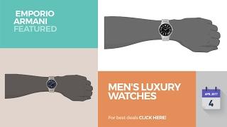 men s luxury watches emporio armani featured