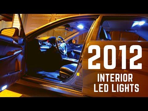 2012 - 2014 Toyota Camry interior LED lights installation - New LED