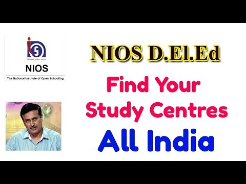272. NIOS D.El.Ed: Find Your Study Centres, all states in India
