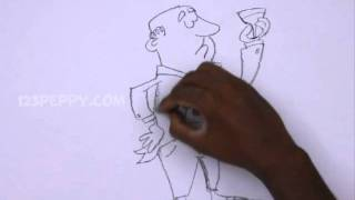 How to Draw a Dry Martini