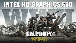 Call Of Duty WW2    ntel HD Graphics 630  Test  Gameplay   720p