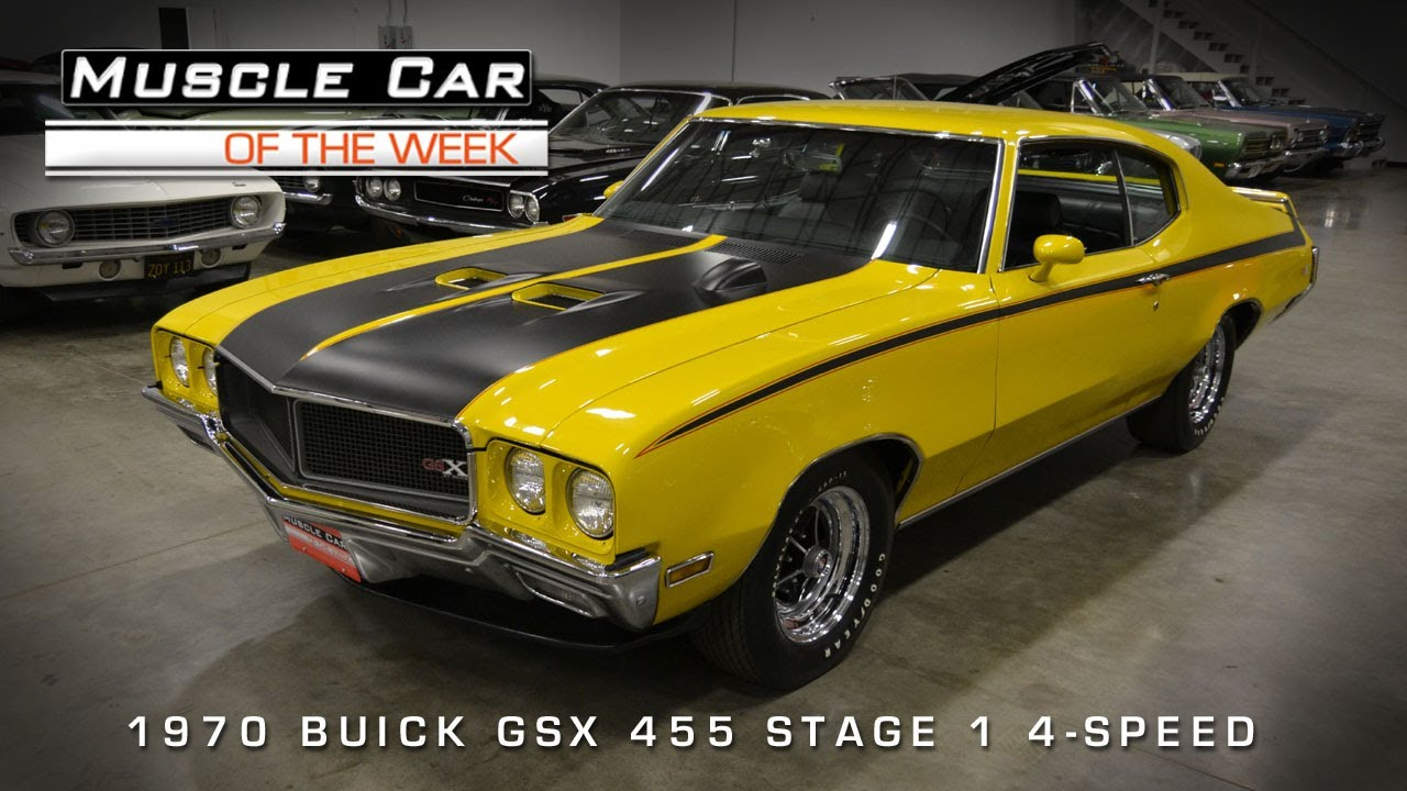 muscle car of the week video 45 1970 buick gsx 455 stage 1 4 speed
