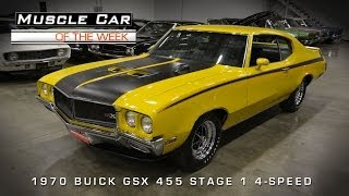 1970 Buick GSX 455 Stage 1 4-Speed Muscle Car Of The Week Video #45