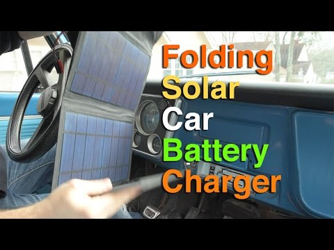 DIY Folding solar car battery charger