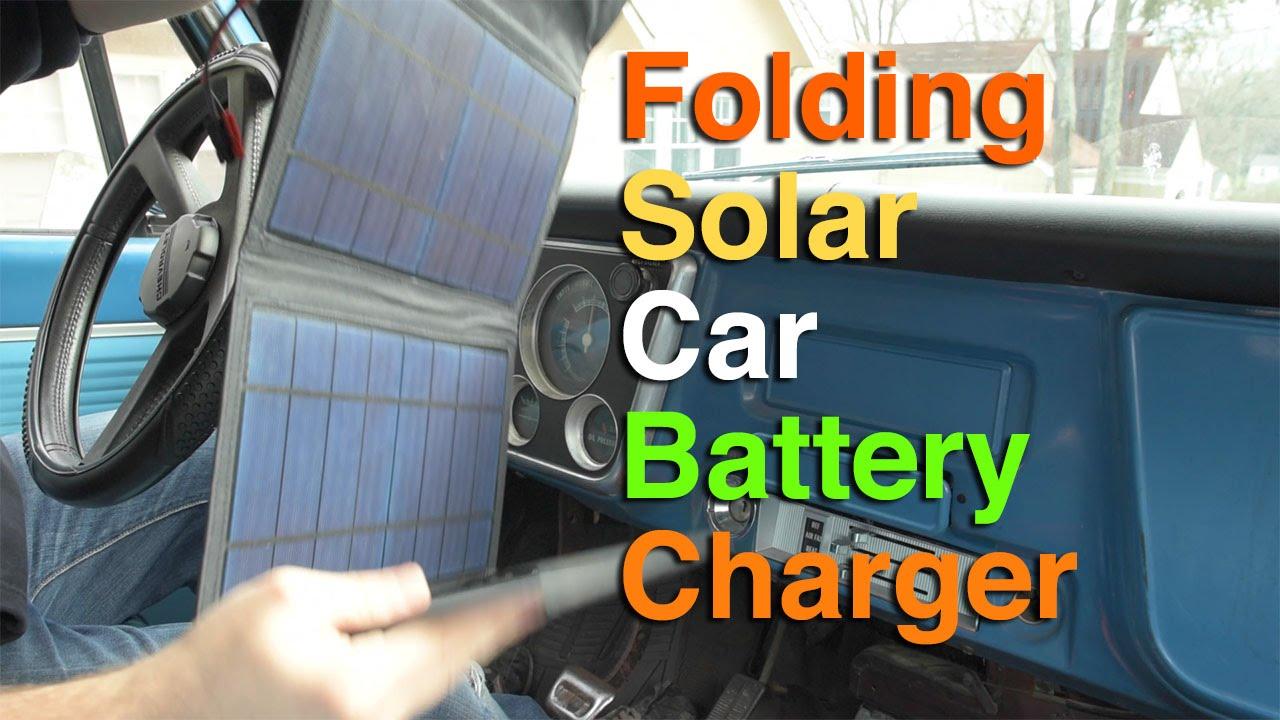 Diy Folding Solar Car Battery Charger