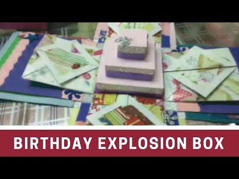 DIY- Birthday Explosion Box | Cake Explosion Box | Explosion Box Ideas for Boyfriend
