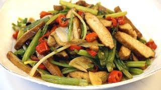 芹菜香干的家常做法,简单下饭,好吃极了,轻松做出美味佳肴-Celery smoked bean curd , simple, delicious
