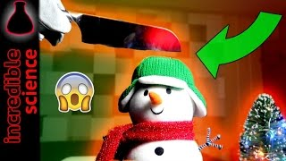 EXPERIMENT Glowing 1000 degree KNIFE VS Christmas