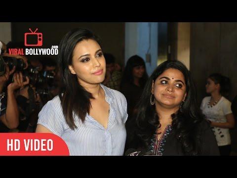 Swara Bhaskar At Anarkali Of Aarah Special Screening | Viralbollywood