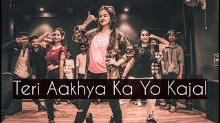 teri-aakhya-ka-yo-kajal-one-take-tejas-dhoke-choreography-dancefit-live