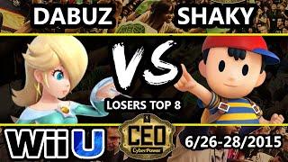 CEO 2015 - Shaky (Ness) Vs. Dabuz (Rosalina) SSB4 Losers Top 8 - Smash Wii U - Smash 4