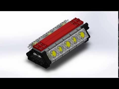 LEGO V10 Engine