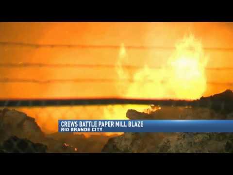 Rio Grande City Paper Mill Fire