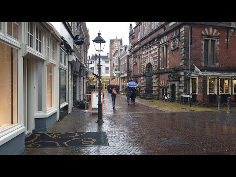 Rainy Walk in Haarlem | Centre 🌧️| The Netherlands - 4K60