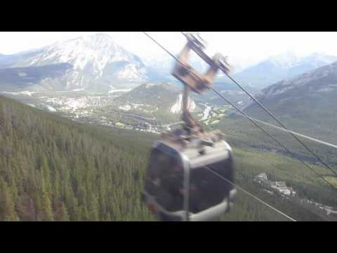 Descending Sulphur Mt by gondola - Banff National Park - Alberta, Canada