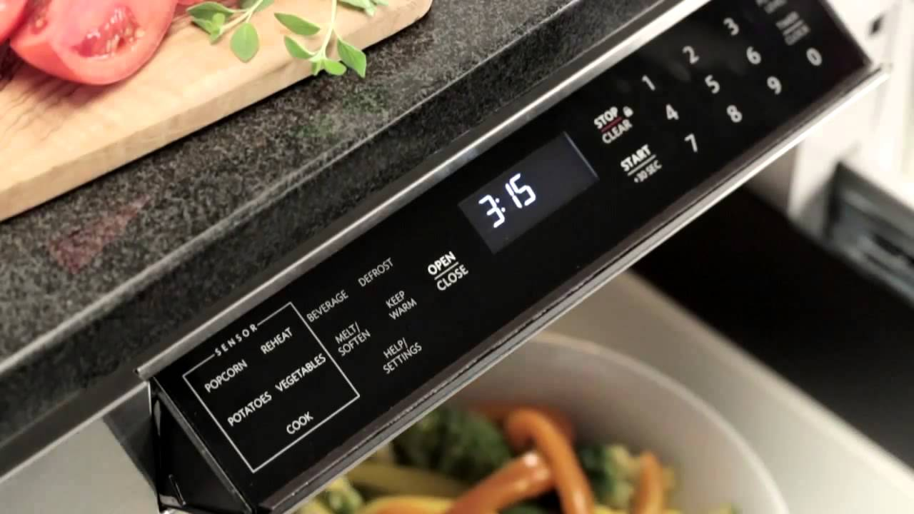 24 in 1 2 cu ft 950w sharp easy open stainless steel microwave drawer kb6524psy