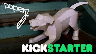 paperesk is back on kickstarter - eye catching DIY papercraft models