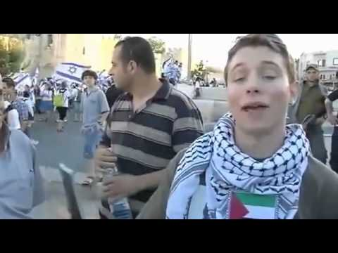 Anti Zionist Young American Jew Stands up For Palestine and is persecuted by Zionist police