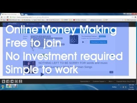 Earn Money Online Using Music Xray   10$ per day is possibleENGLISH its real not fack