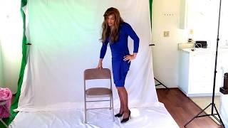 Crossdressing - Sexy blue dress