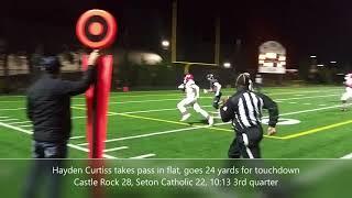 Highlights: Castle Rock holds off Seton Catholic 42-40 in thriller