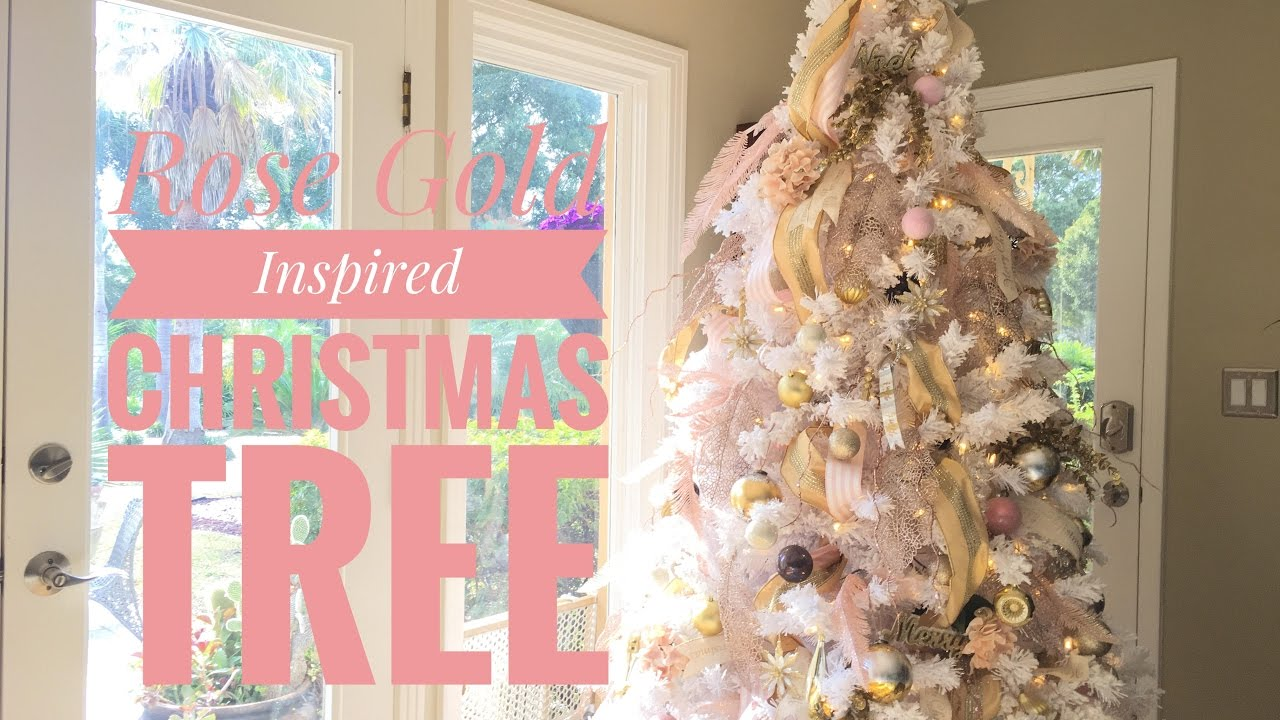 rose gold vintage blush christmas tree youtube - Blush Christmas Decorations