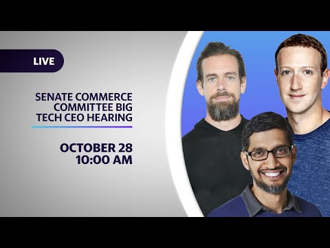 Big Tech CEOs testify before the Senate Commerce Committee